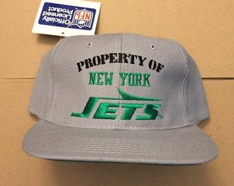 vintage deadstock New York jets snapback hat cap 90s jersey logo OG 80s nfl  darnold snap back NY nyj propery of nwt 4f5ed9034