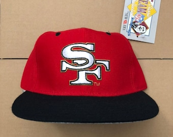 a955d001f12 Vintage deadstock San Francisco 49ers fitted hat size 7 1 8 cap 90s jersey  giants logo SF niners 9ers steve young rice super bowl new era