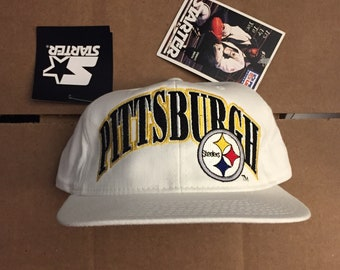 c71152f8d32 vintage deadstock STARTER pittsburgh steelers snapback hat cap 90s jersey  logo pirates nfl ds nwt bettis conner juju 1990s snap back