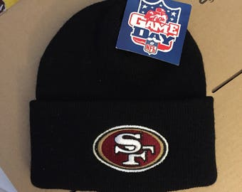 4ffe3f40c Vintage deadstock San Francisco 49ers beanie winter knit snapback hat cap  90s jersey logo athletic nfl 80s montana rice