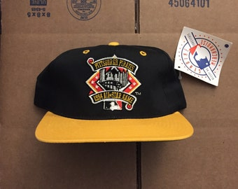 30dd266bf9a vintage deadstock pittsburgh pirates 1994 MLB all star game snapback hat  cap 90s jersey logo penguins steelers ds logo STARTER