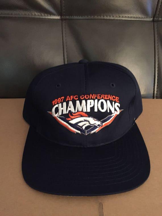 vintage deadstock denver broncos snapback hat cap 90s jersey  abe58fdcc