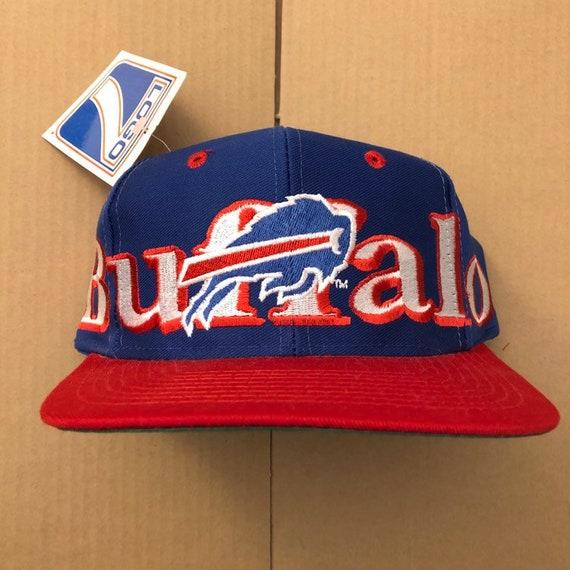Vintage deadstock buffalo bills snapback hat cap 90s jersey  8b0ba1e2029