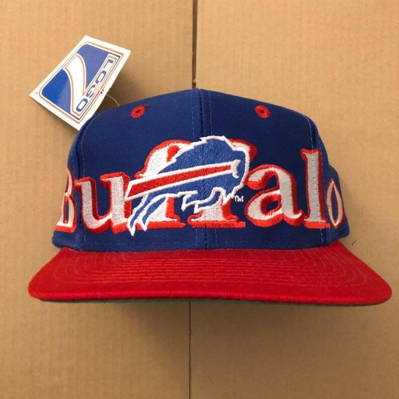 Vintage deadstock buffalo bills snapback hat cap 90s jersey  487f4a857