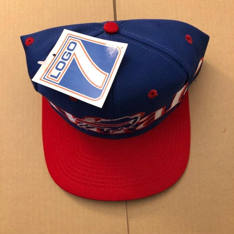 61973a2b Vintage deadstock buffalo bills snapback hat cap 90s jersey logo nfl sabres  80s era logo7 new with tags