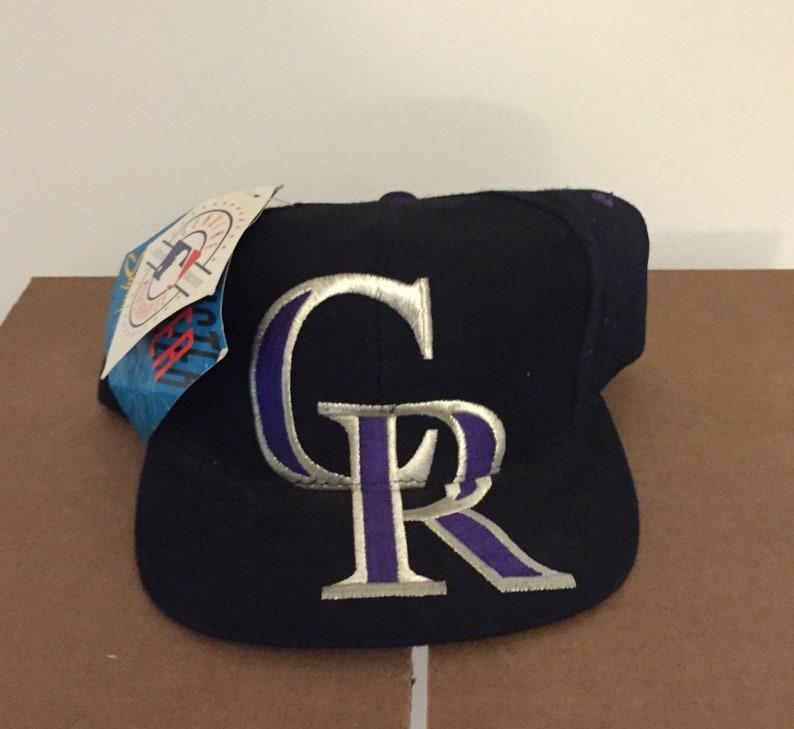 Vintage deadstock colorado rockies snapback hat cap 90s jersey  52340215ea52