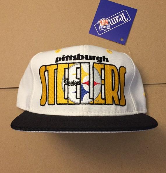 Vintage deadstock pittsburgh steelers snapback hat cap 90s  78b5134a63e