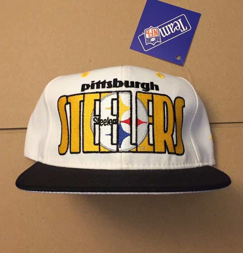db1eb391aaed1 Vintage deadstock pittsburgh steelers snapback hat cap 90s