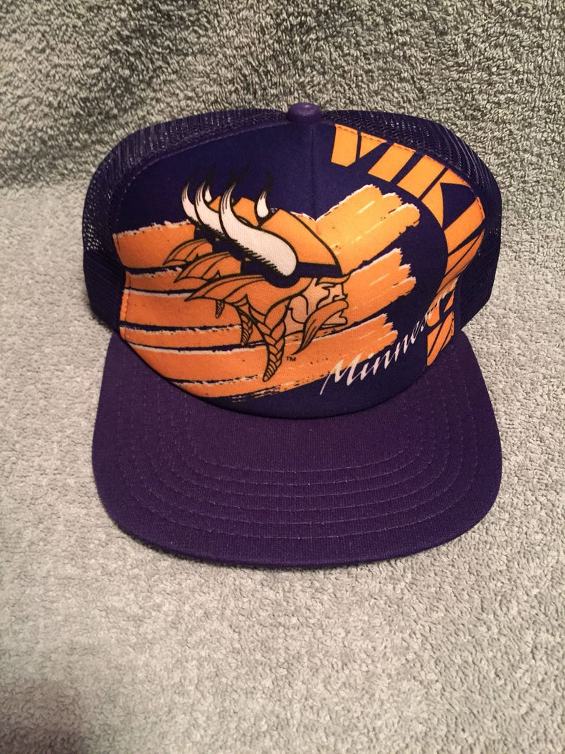 99cf47fcc9b Vtg deadstock minnesota vikings new era trucker snapback hat