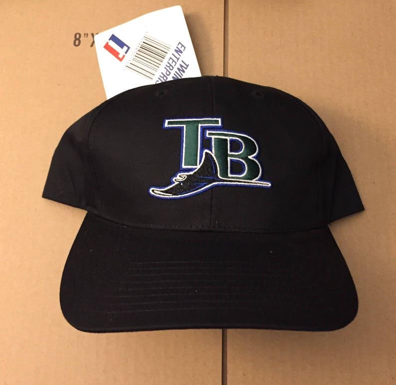 Vtg deadstock Tampa Bay Devil Rays snapback hat cap MLB 90s  0a6eb4dc9efc