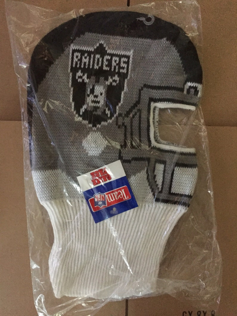 c4d0e75cc28 Vintage deadstock oakland raiders winter game face ski mask