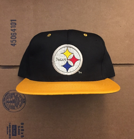 5a27cc487 Vintage deadstock pittsburgh steelers snapback hat cap 90s | Etsy