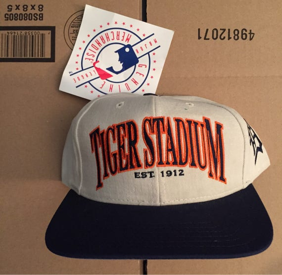 buy popular 76023 41998 Vintage deadstock Detroit Tigers Tiger Stadium snapback hat   Etsy