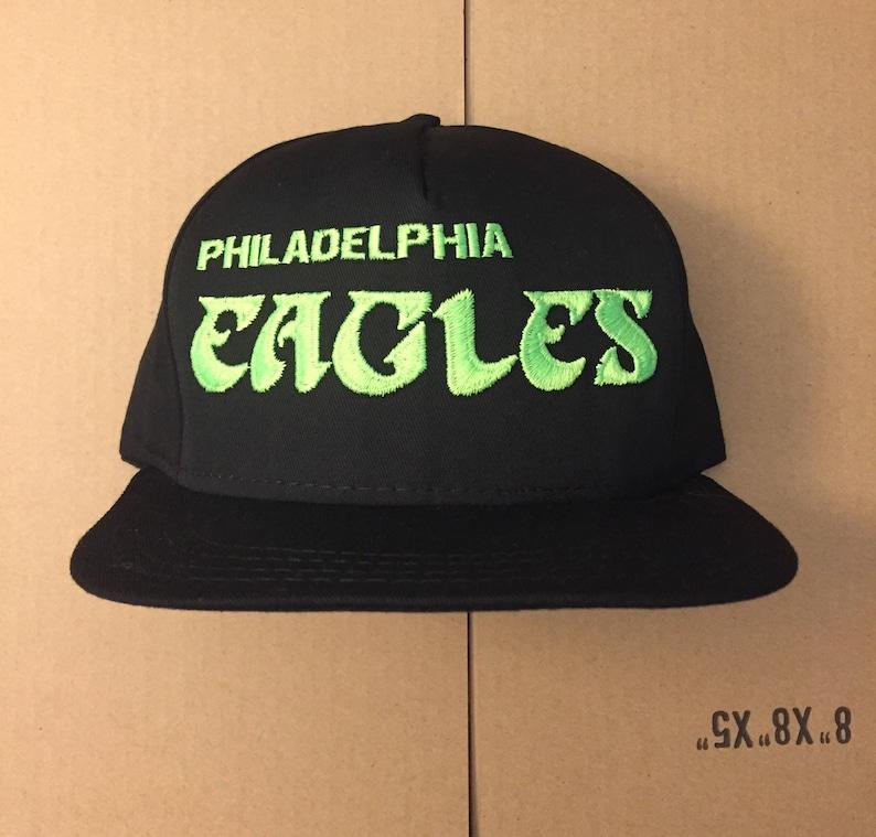 newest ff46a 68779 Vintage deadstock Philadelphia eagles snapback hat cap 90s jersey logo nfl  80s 76ers phillies wentz super bowl