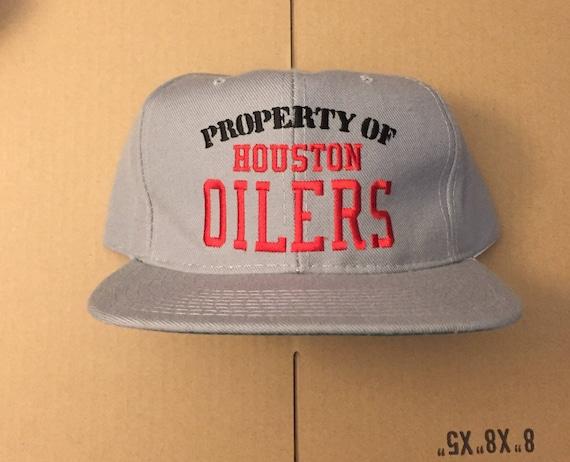 Vintage deadstock Houston Oilers snapback hat cap 90s jersey  db431686eaf0