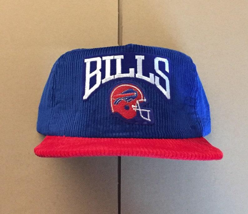 Vintage Deadstock corduroy buffalo bills snapback hat cap 90s  42fff52fb230