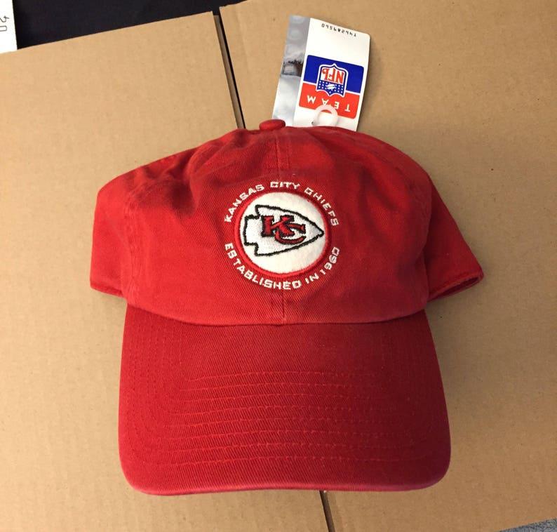 b76b09dfaaa671 Vtg deadstock kansas city Chiefs dad floppy hat cap Nfl 90s KC | Etsy