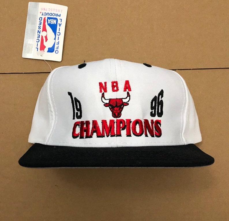 3990ebfc5ea28e Vintage NWT 1996 chicago bulls NBA finals champions snapback | Etsy
