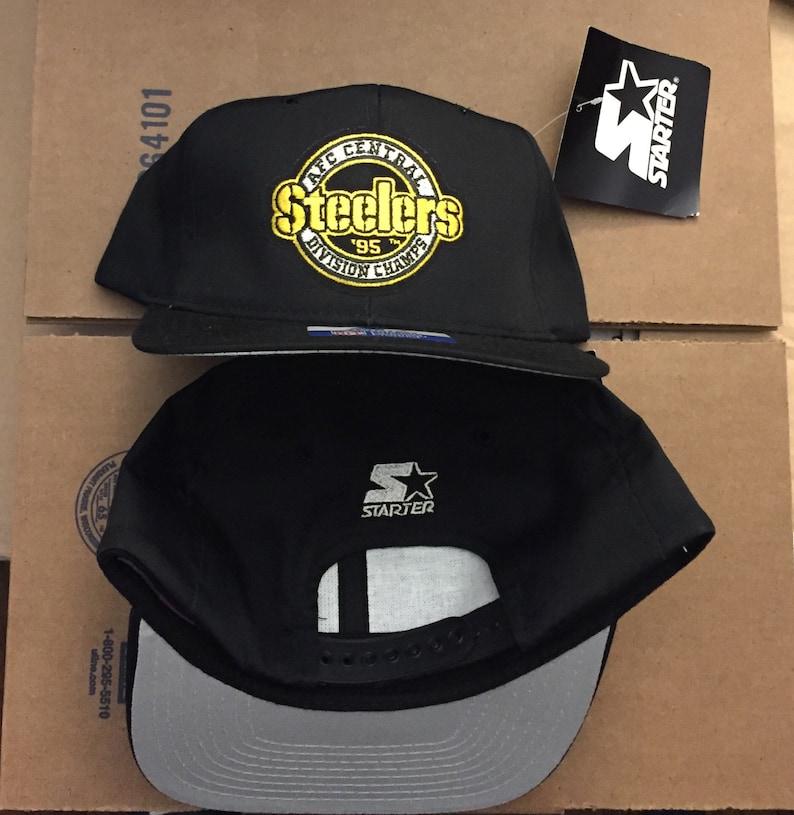 a3969f551 Vintage deadstock STARTER pittsburgh steelers snapback hat cap | Etsy