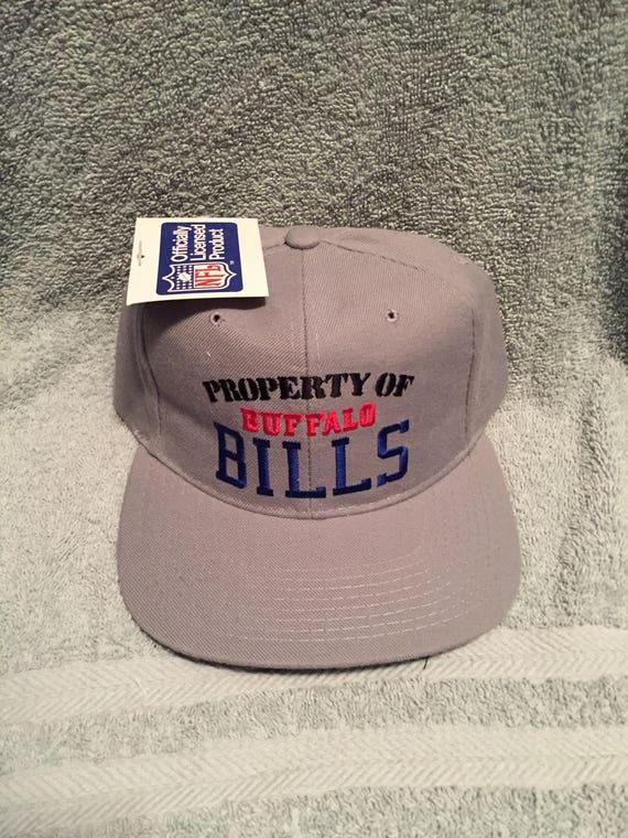 85bd89e8 Vintage deadstock buffalo bills snapback hat cap 90s jersey logo nfl sabres  80s new era