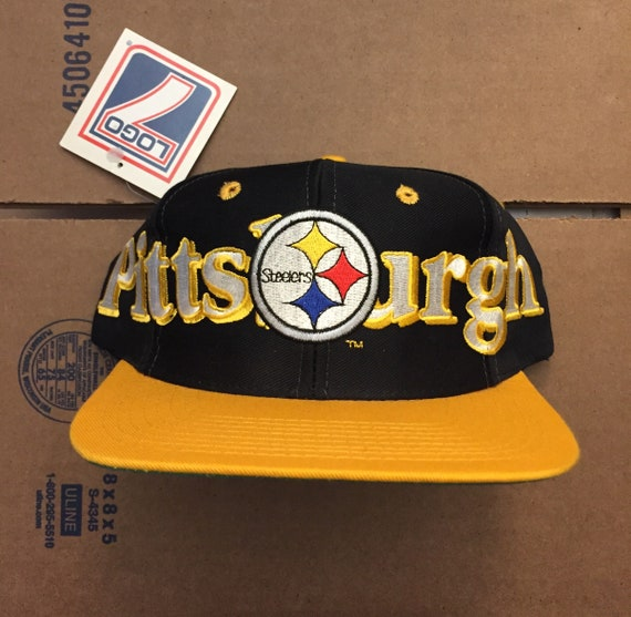 8d4b29563 vintage deadstock pittsburgh steelers snapback hat cap 90s jersey logo  brown bell penguins nfl ds nwt super bowl bettis logo7