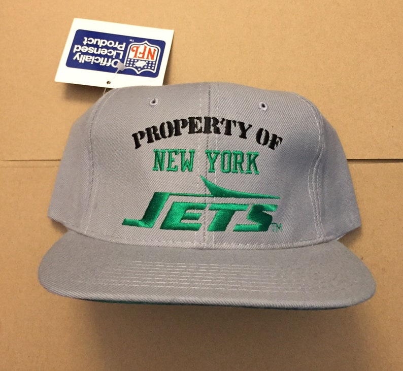 ec991939 vintage deadstock New York jets snapback hat cap 90s jersey logo OG 80s nfl  darnold snap back NY nyj propery of nwt
