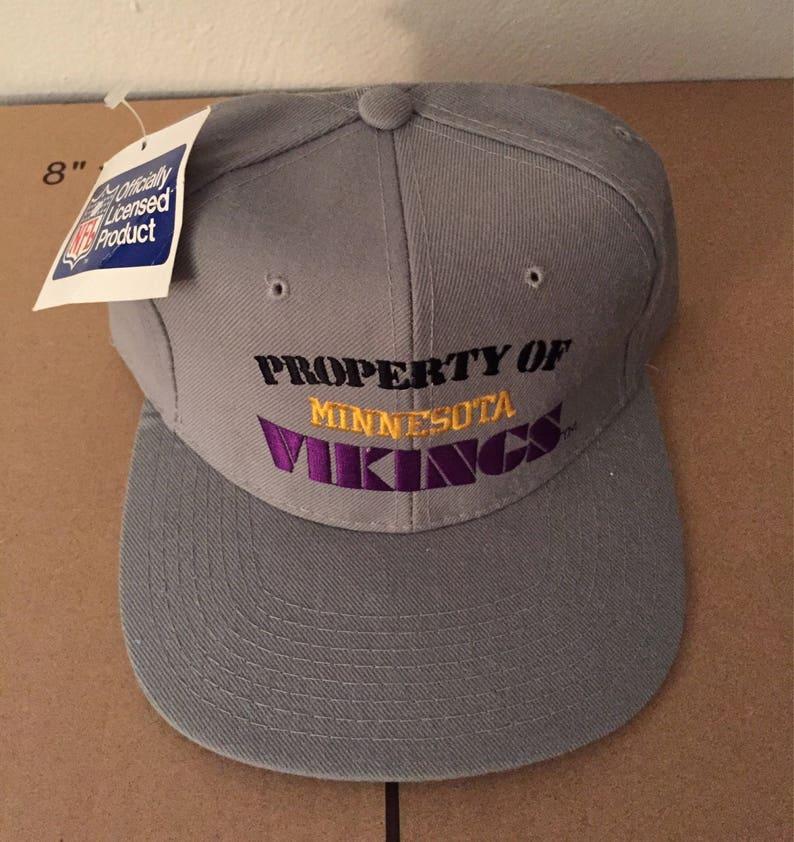 c25d5cef vtg deadstock minnesota vikings new era snapback hat cap 90s jersey logo  peterson rare nwt nfl ds og