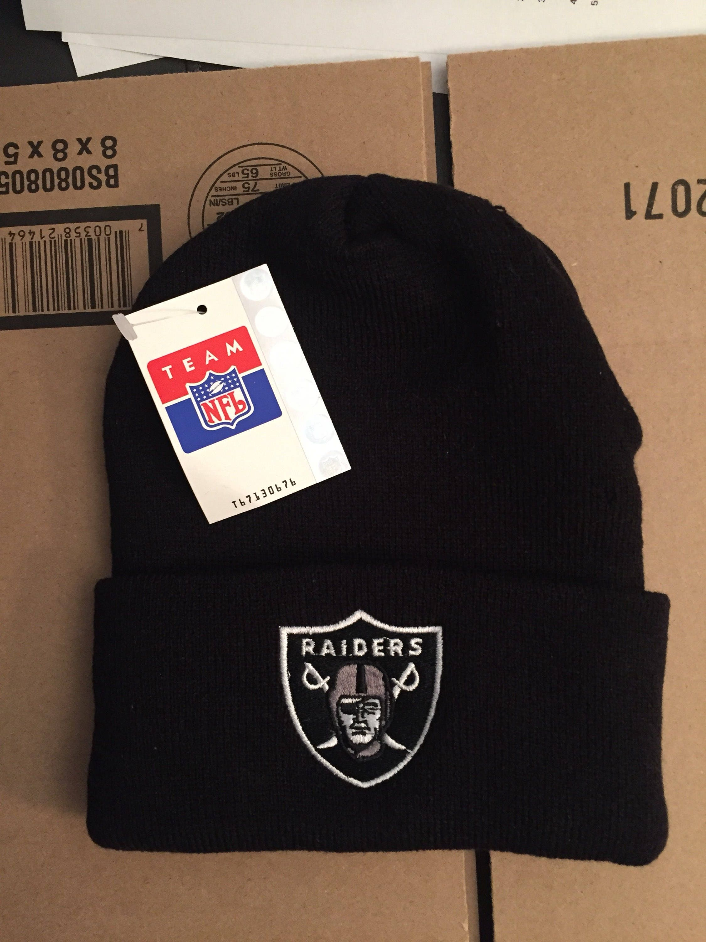 vtg deadstock LA los angeles raiders oakland beanie winter hat  1aa5e71a7a0