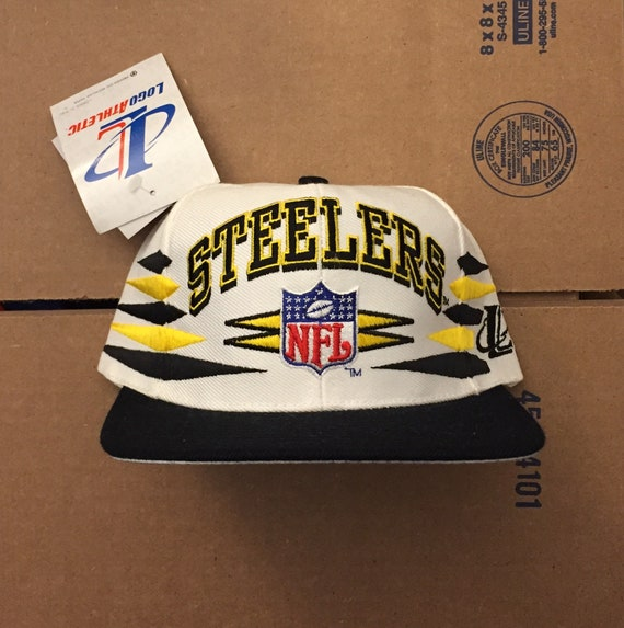 Vintage deadstock pittsburgh steelers snapback hat cap 90s  3c647ad7f