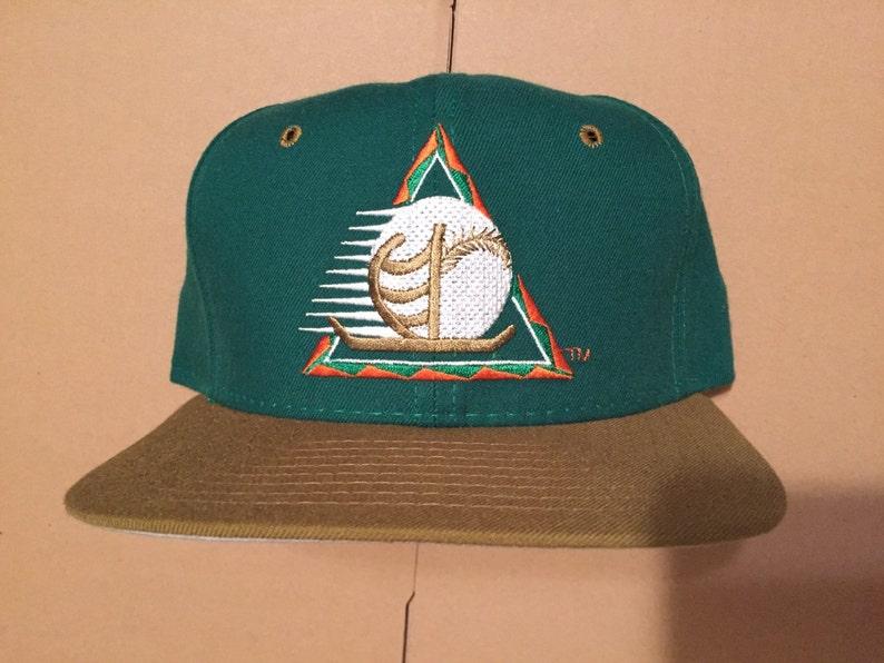 Vintage deadstock kona navigators snapback hat cap 90s jersey logo milb new era hawaii winter baseball chris brown snap back rare