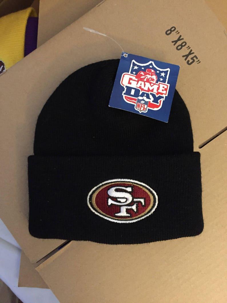 1d6e817c4e49fa Vintage deadstock San Francisco 49ers beanie winter knit | Etsy