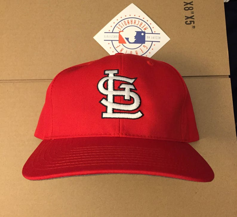 best website 4d836 b60f0 Vtg deadstock St. Louis Cardinals snapback hat cap MLB 90s new   Etsy