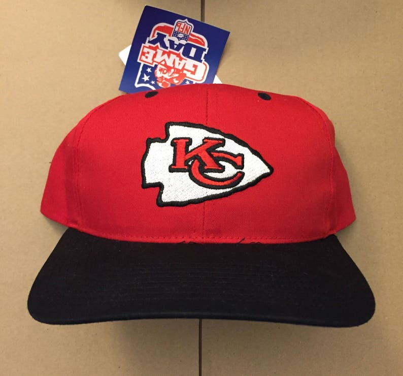d1aa6ce2 Vtg deadstock kansas city Chiefs snapback hat cap Nfl 90s KC 80s ds nwt  royals football great fit !