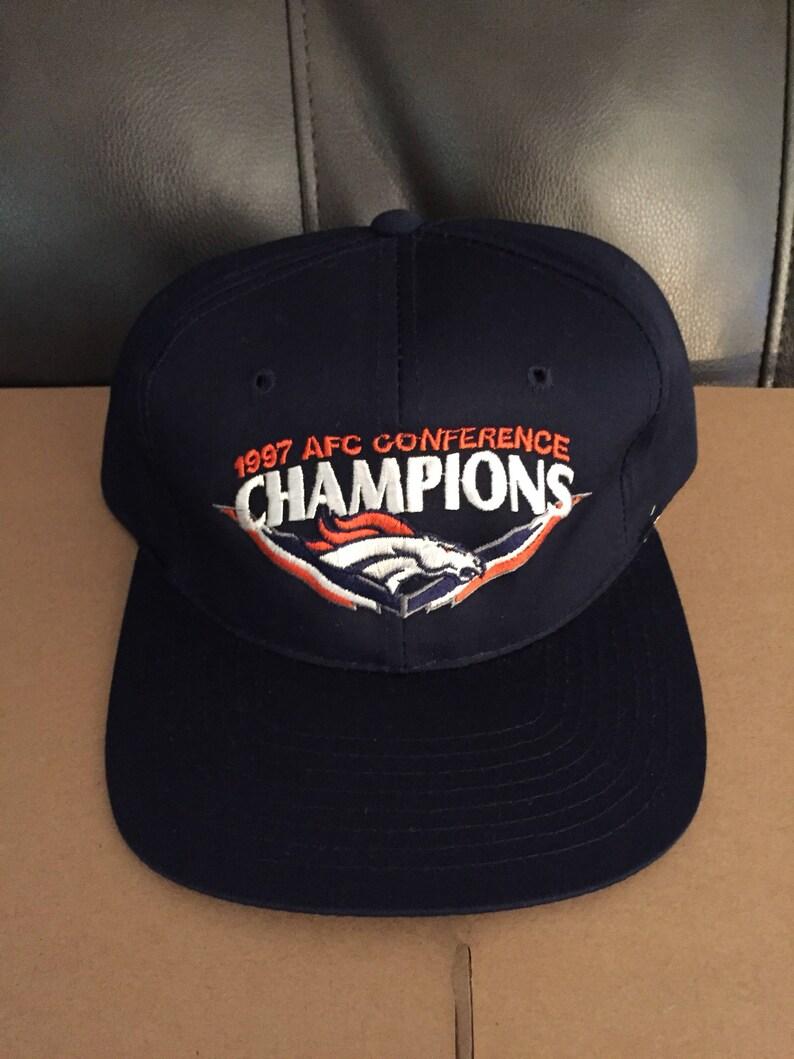 e8935118 vintage deadstock denver broncos snapback hat cap 90s jersey logo OG 80s  nfl elway snap back afc super bowl 1997 1998