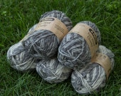 Patons Eco Wool Chunky Packs - 2 Dark Grey & 3 Light Grey Mix - 5 x 50 g balls