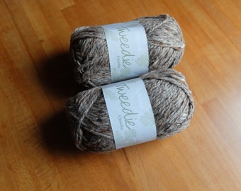 Dark Grey Colour Man Of Aran Collection Irish Basket Weave Snood