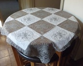 Lace and Madeira Embroidery Tablecloth 41 quot x 41 quot 104cms x 104cms