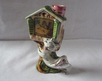 """SALE: 1950s Drioli Liqueur 'Flicker' Flask Comic Cat Felix Tweety Pie Early Hologram Italian 5"""" 13cms"""