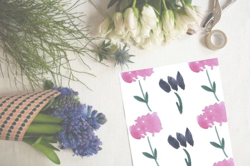 A4 QUICK DIGITAL DOWNLOAD Botanical Digital paper Botanical gift wrap Botanical digital paper Floral digital paper Botanical pattern