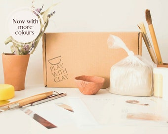 Big air-dry clay kit, Clay kit, home DIY Clay kit, home pottery kit, best friend gift box, Mother's Day, thinking of you, team events
