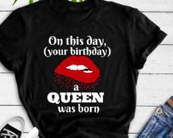 March Birthday Shirt Women Trendy And Stylish Gift Youth SMLXL Womens S M L XL 2XL 3XL 4XL Canvas T Red Lips