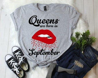 a749eeb7a7e September Birthday Shirt Trendy and Stylish Gray Birthday Gift Youth   S