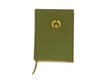 Mistletoe embroidered blank journal