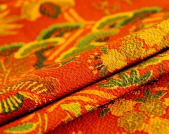 16902196e846 Vintage Japanese Silk Kimono Fabric   Orange Crepe Hex 40
