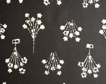 "Japanese Kimono Fabric   Bouquet   112cm(44"")   Vintage   Silk  Panel   Patchwork"