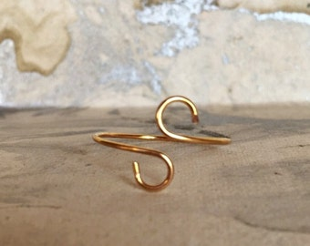 Gold Plated Wire Wrapped Ring, Gold, Gold Plated, Midi Rings, Minimalist Rings