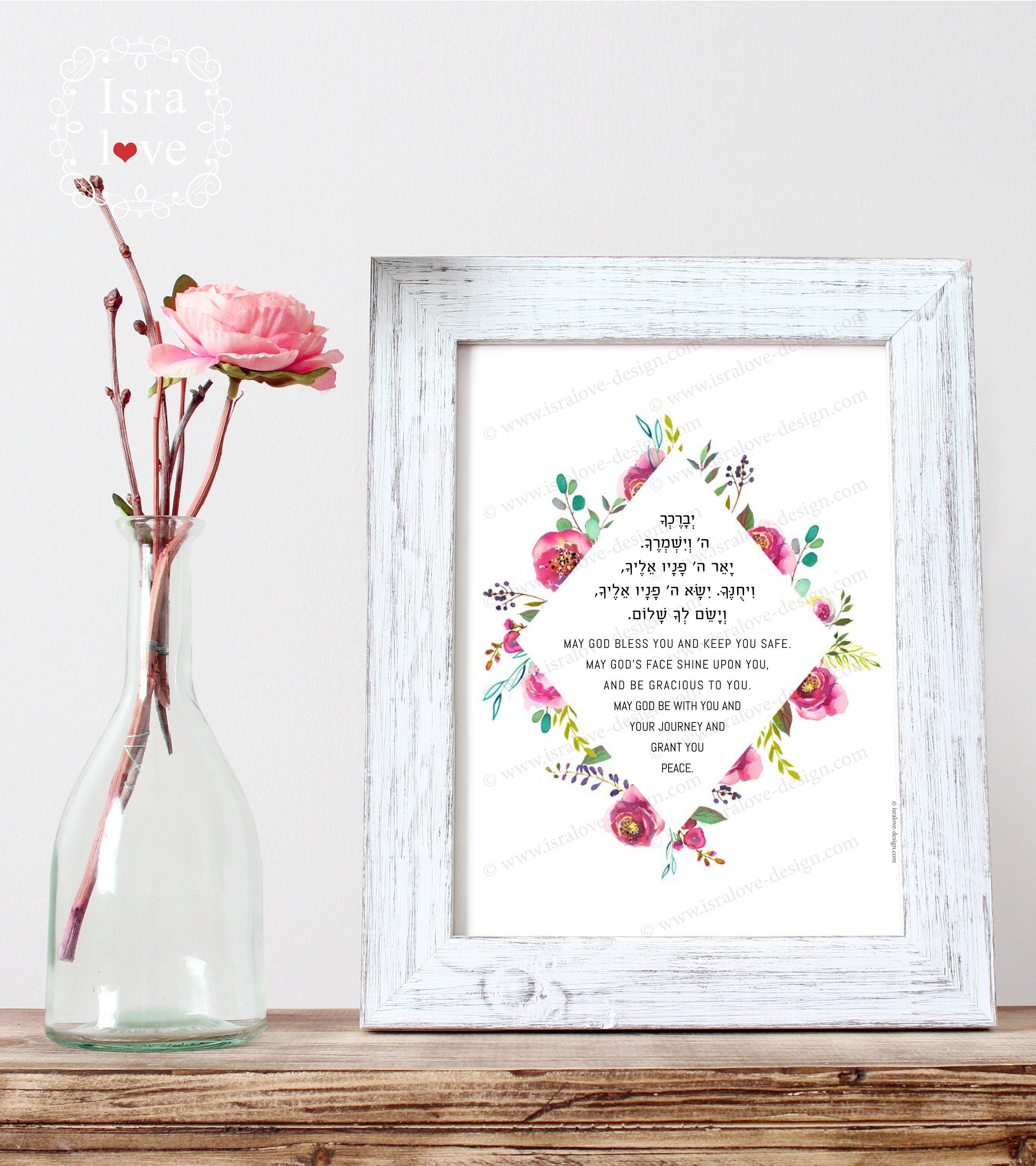 Blessings Home Decor: Aaronic Blessing Printable Wall Decor Bible Verses Numbers