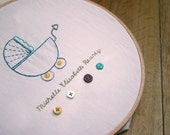 Welcome New Baby Name Stroller Downloadable Embroidery Pattern