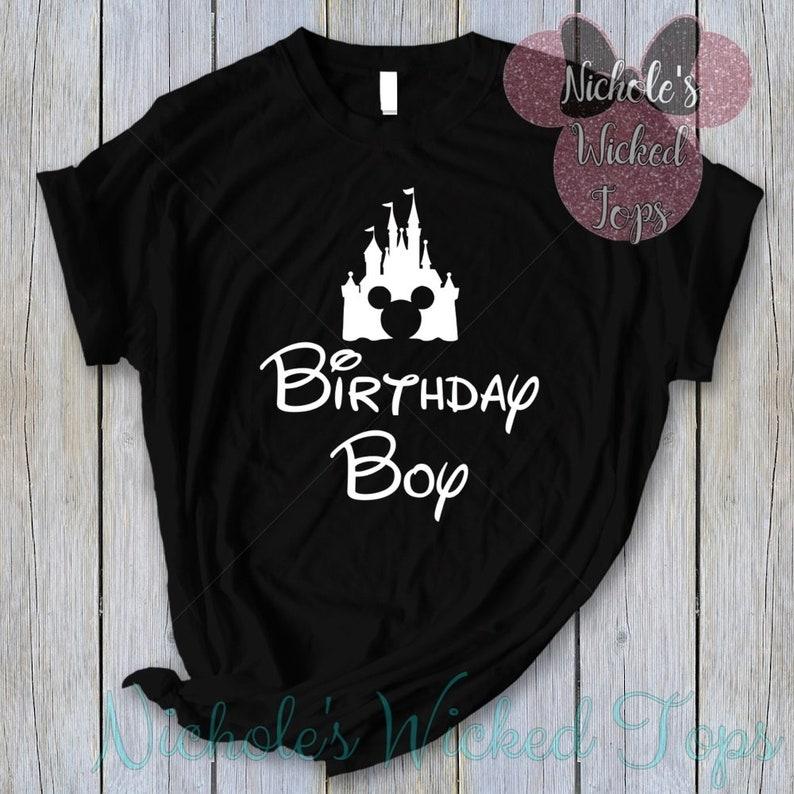 Disney Birthday Boy T Shirt Or Tank Top Men Kids Shirts WDW Magic