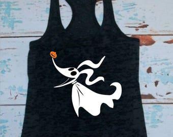 Zero, T-shirt or Tank Top, Tim Burton inspired, Disney, Jack Skellington, Jack and Sally, Oogie Boogie, Disney shirts, Halloween